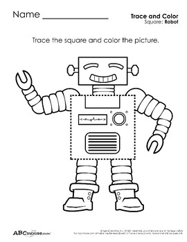 Squares: Coloring and Tracing