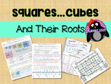 Squares, Cube and Roots INB Investigation, HW and Practice