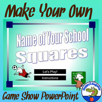 Squares PowerPoint Game Template