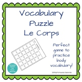 Vocabulary Puzzle - le corps - body parts - French