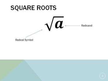 Squares & Square Roots (Power Point)
