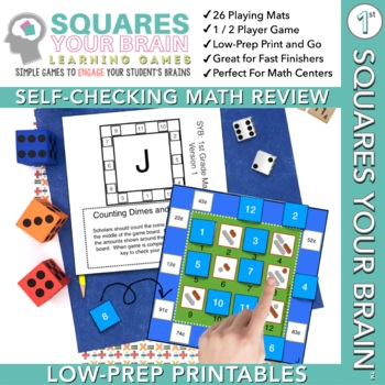 Math Game Squares Your Brain™ 1st Grade