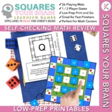 Math Review Games Kindergarten: Squares Your Brain™