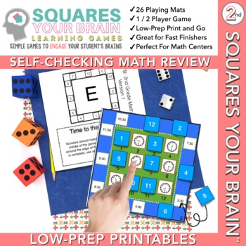 Math Review Games Second Grade: Squares Your Brain™