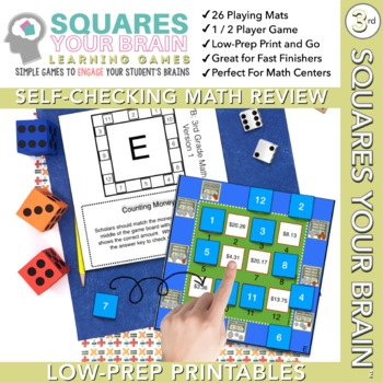 Math Review Games Third Grade:  Squares Your Brain™