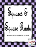 Squares and Square Roots - A Complete Unit