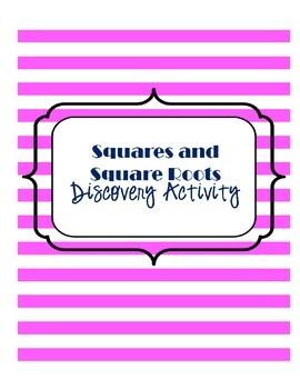 Squares and Square Roots Discovery Activity