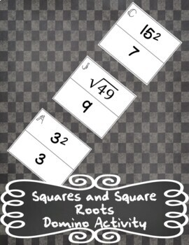 Squares and Square Roots - Domino Activity