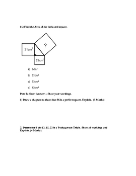 Squares and Square Roots Math Grade 8