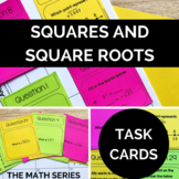 Perfect Squares and Square Roots Task Cards!