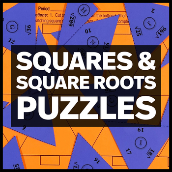 Squares and Square Roots - Two Triangle Matching Puzzles