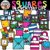 Squares in Everyday Life Clipart {Squares in real life Clipart}