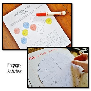 Squaring Cubing And Roots Interactive Notebook And Notes