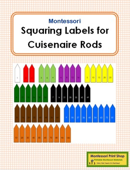 Squaring Labels for Cuisenaire Rods