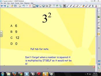 Squaring Numbers SMART Responder Quiz (Responders not needed)