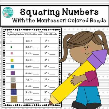Squaring Numbers With the Montessori Colored Beads