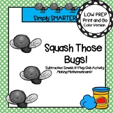 LOW PREP Subtraction Smash It Bug Themed Play Dough Activity