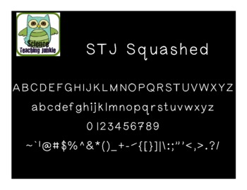 Squashed - Science Teaching Junkie Font Series