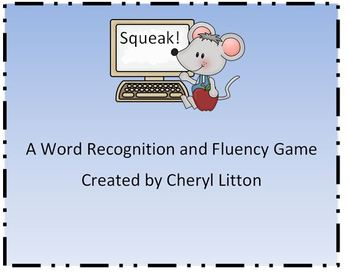Squeak A High Frequency Sight Word Fluency Game