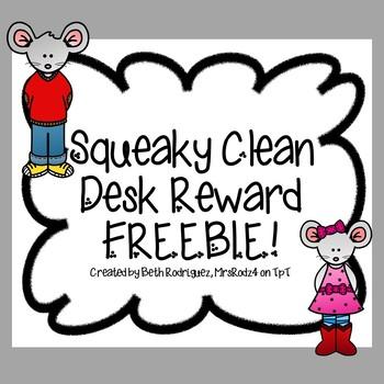 Squeaky Clean Desk Reward FREEBIE