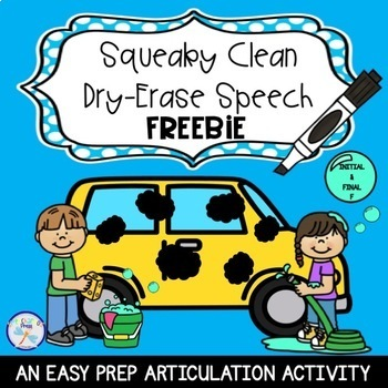 Squeaky Clean Dry-Erase Speech Freebie