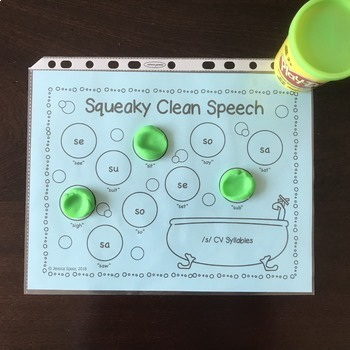 Squeaky Clean Speech: Articulation Smash Mats for CCV Syllables