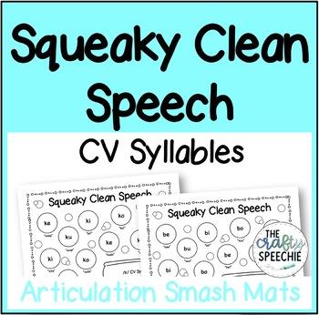 Squeaky Clean Speech: Articulation Smash Mats for CV Syllables