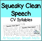 Squeaky Clean Speech: Articulation Smash Mats for CV Syllables