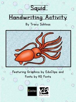 Squid Handwriting