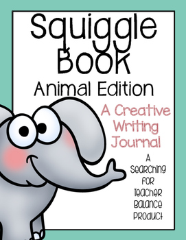 Squiggle Book (Animal Edition) - Creative Writing Journal