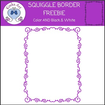 Squiggle Border FREEBIE