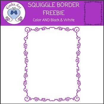 Squiggle Border FREEBIE