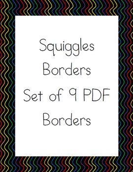 Squiggle Border - Set of 9 Colorful Borders