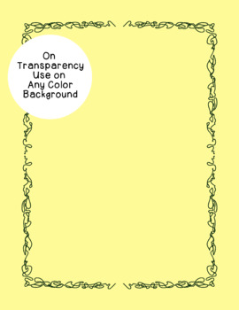 Squiggle Borders Clip Art PNG JPG Blackline Included Commercial or Personal