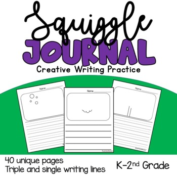 Squiggle Journal- Creative Writing Practice Pages
