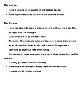 Squiggle Line Story Writing Prompt