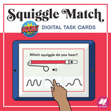 Music Distance Learning: Squiggle Match - BOOM Cards - Goo