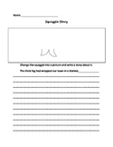 "Squiggle  Stories - Step Up to Writing ""Get the Story Rolling"" Story Starters"