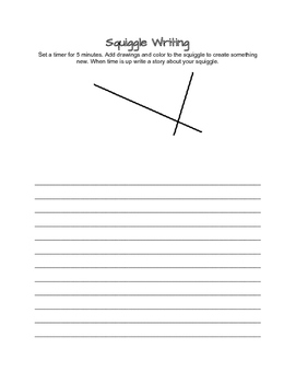 Squiggle Writing- Literacy Centers