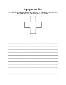 Squiggle Writing- Literacy Centers (B)