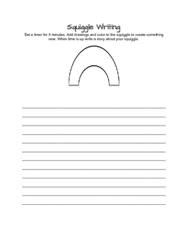 Squiggle Writing- Literacy Centers (C)
