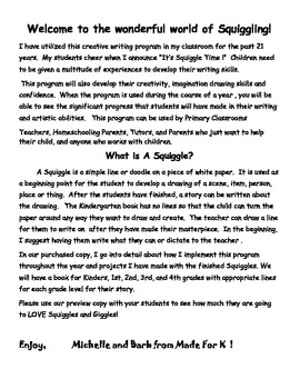 """""""Squiggle and Giggles"""" A Creative Writing Program"""