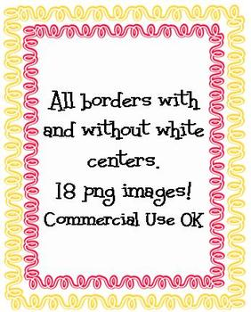 Squiggly Borders 1...Commercial Use OK!