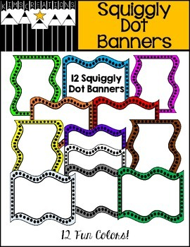 Squiggly Dot Banners FREEBIE!!!
