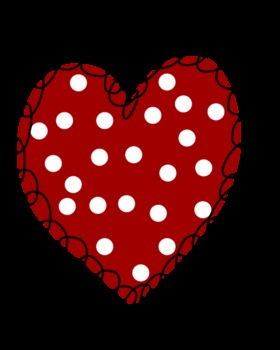 Squiggly Hearts with Polka Dots