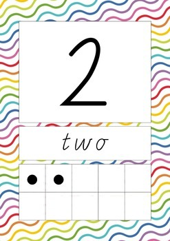 Squiggly Lines Numbers 0-20 Charts/Posters