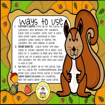 Squirrel and Acorn Speech Therapy Synonyms
