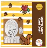 Squirrel Acorn Count Craft