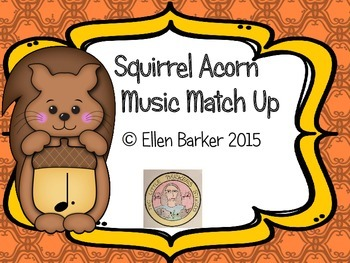 Squirrel Acorn Music Symbol Match Up