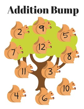 Print & Play! Squirrel Addition Bump